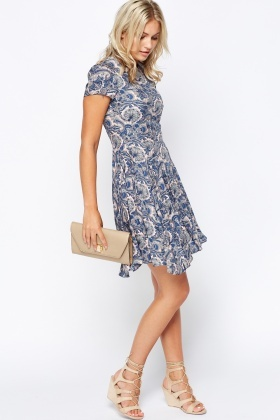 Paisley Print Shift Dress