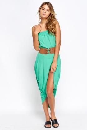 a75ec92dfeeda Wrap Front Belted Bandeau Dress - Just £5