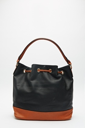 Colour Block Duffle Handbag