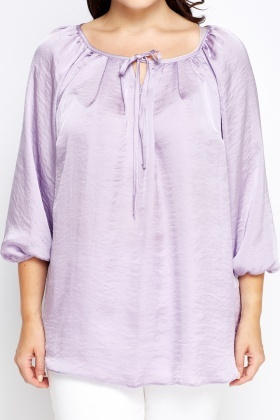 Lilac Tie Up Blouse