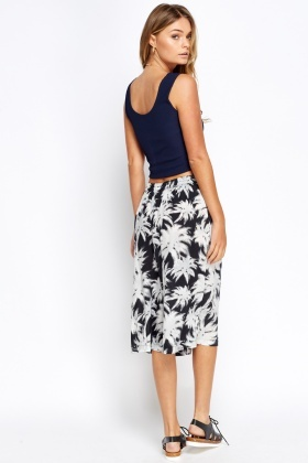 Palm Tree Print Culottes