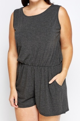 Speckled Grey Playsuit