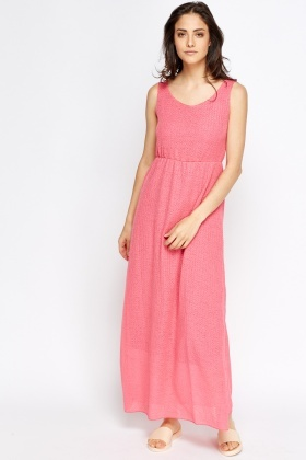 Overlay Casual Elasticated Dress