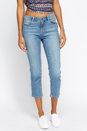 Cropped Denim Jeans