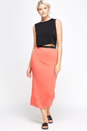 Elasticated Basic Maxi Skirt