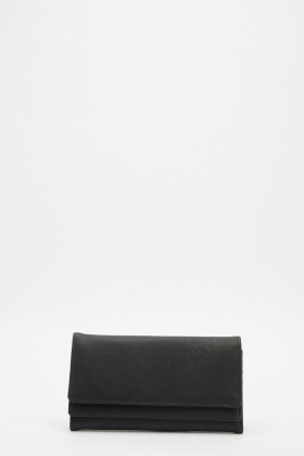 Double Front Layered Textured Purse