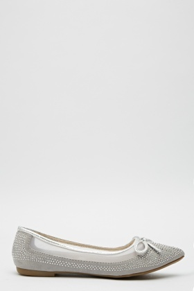Laser Cut Mesh Pointed Flats