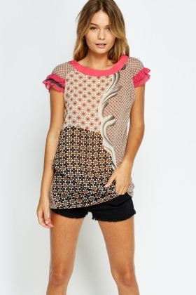 Flare Sleeves Printed Tunic