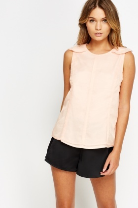 Mesh Overlay Sleeveless Top