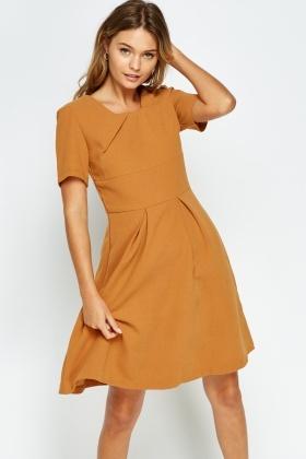 bd4882b772 Pleated Hem Skater Basic Dress - Just £5