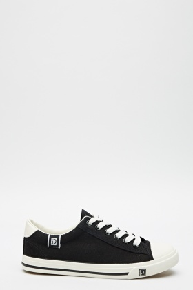 Black Contrast Trainers