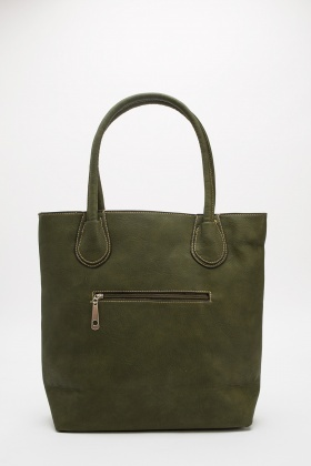 Detailed Front Trim Tote Bag