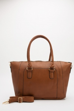 Faux Leather Winged Bag