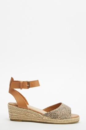 2ab3b769967 Open Toe Espadrille Wedge Sandal
