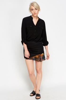 Asymmetric Contrast Skirt
