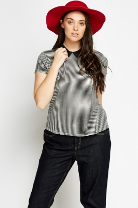 Collared Check T-Shirt