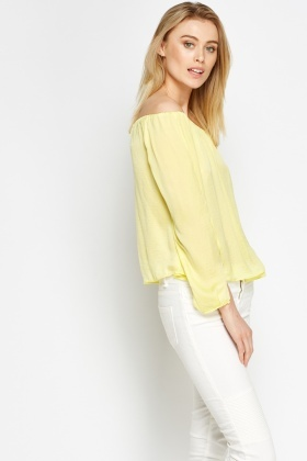 Cut Out Sleeves Off Shoulder Top