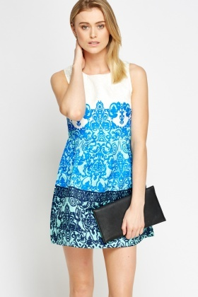 Ornate Jacquard Skater Dress