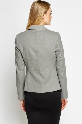 Twin Button Linen Blend Blazer