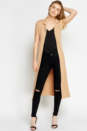 Sleeveless Long Lightweight Cardigan - Just £5