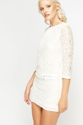 Mini Lace Bodycon Dress
