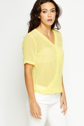 Wrap Sheer T-Shirt