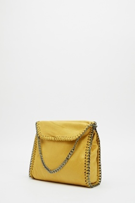 Chained Trim Shoulder Bag