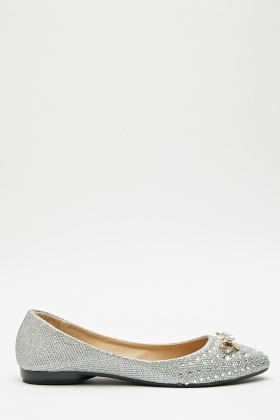 Encrusted Bow Front Pumps