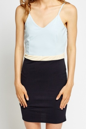 Colour Block Bodice Dress