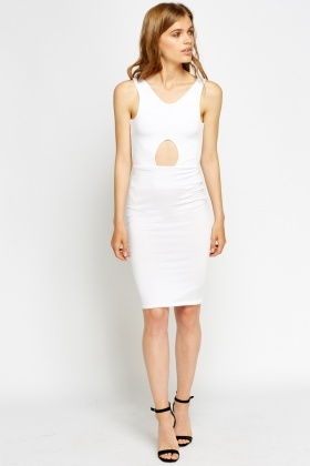 Cut Out Bodycon Midi Dress