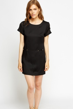 Cut Out Sleeve Shift Mini Dress