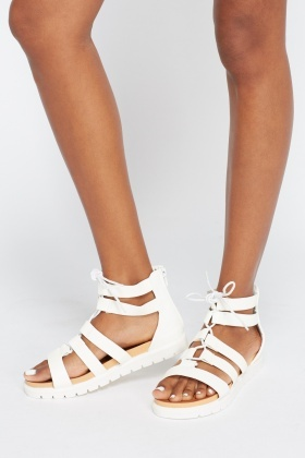 Strappy Tie Up Sandals