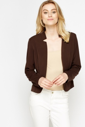 Cropped Causal Blazer