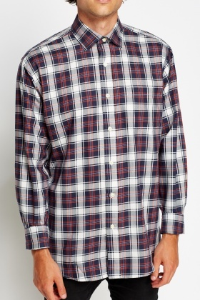 Navy Multi Casual Shirt