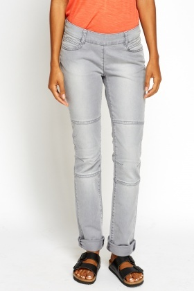 Textured Straight Fit Jeans
