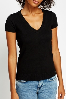 Pack Of 2 Basic Low Neck T-Shirt