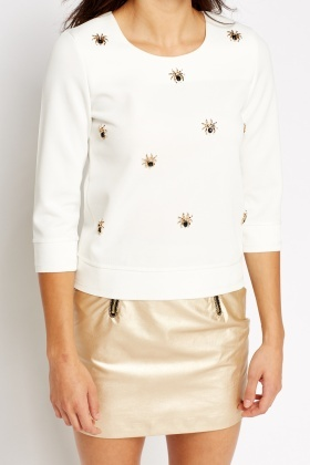 Encrusted Spider Top