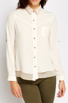 Layered Beige Blouse