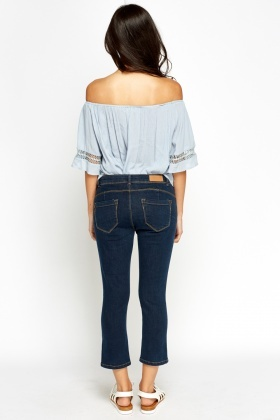 Cropped High Waisted Jeans