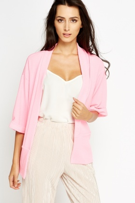 Lapel Front Open Cardigan