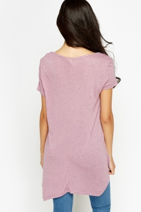 Long Casual Asymmetric T-Shirt