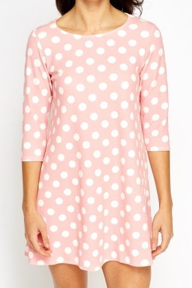 Polka Dot A-Line Dress