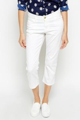 White 3/4 Leg Jeans - Just £5