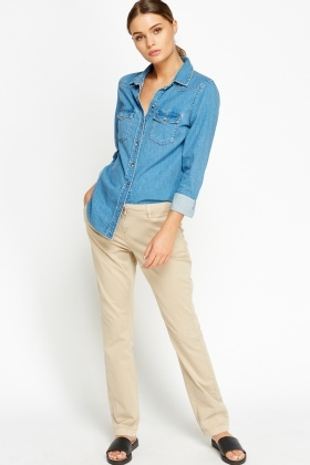 Cotton Blend Chinos
