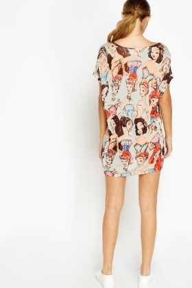 Fashion Girl Print Tunic