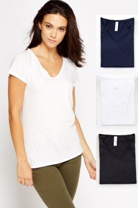 Pack Of 3 Cotton T-Shirt