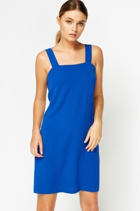 Royal Blue Pinafore Dress