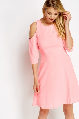 Cold Shoulder Skater Dress