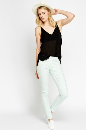Elasticated Slim Leg Jeggings