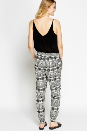Mono Printed Lightweight Trousers
